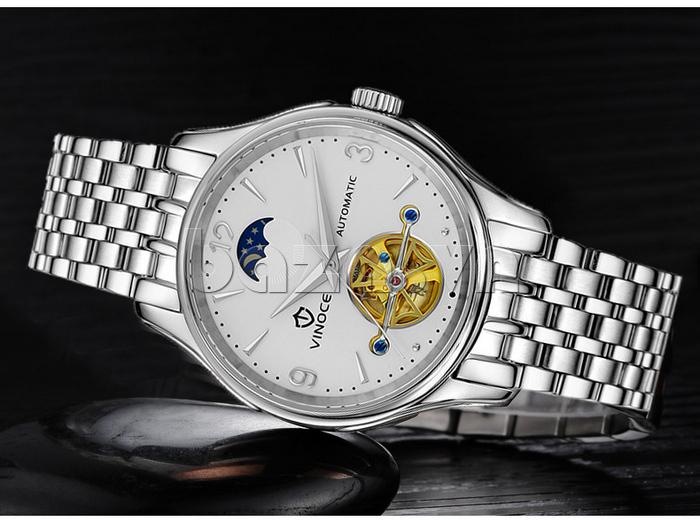 Đồng hồ cơ nam Vinoce V633231G mặt chạm rỗng thiết kế hoàn mỹ
