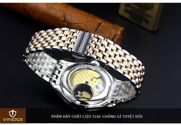 Đồng hồ cơ nam Vinoce V633231G mặt chạm rỗng thiết kế hot