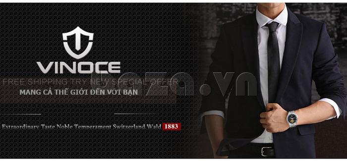 Đồng hồ cơ nam Vinoce V633231G mặt chạm rỗng chính hãng