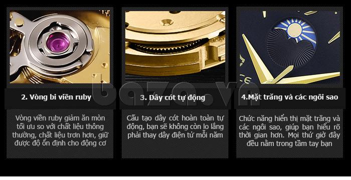 Đồng hồ cơ nam Vinoce V633231G thiết kế ấn tượng
