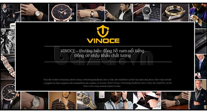 Đồng hồ cơ nam Vinoce V633231G mặt chạm rỗng đẹp