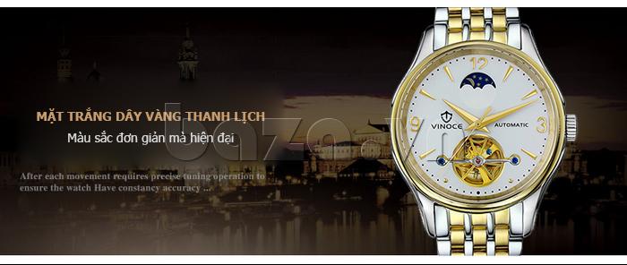 Đồng hồ cơ nam Vinoce V633231G mặt chạm rỗng thiết kế chất lượng