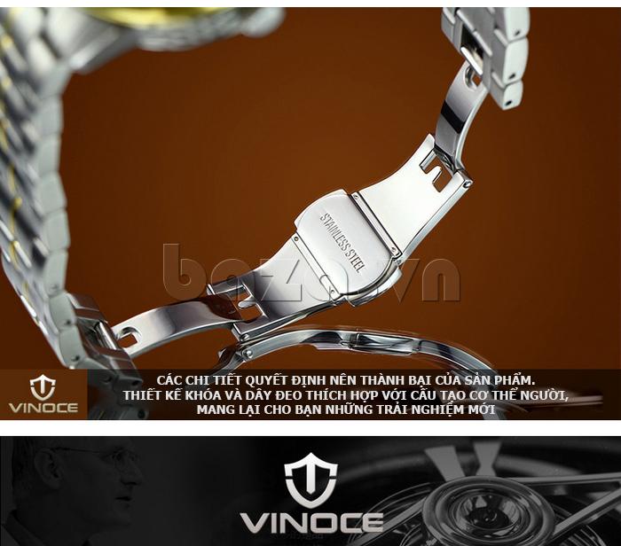Đồng hồ cơ nam Vinoce V633231G mặt chạm rỗng thiết kế độc
