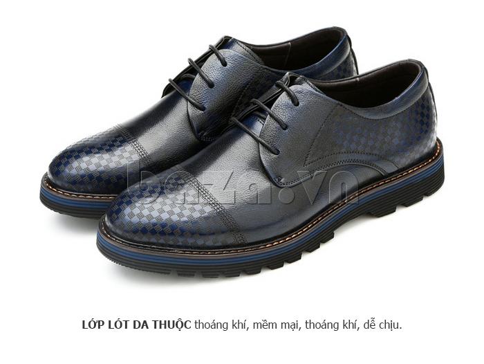 Giày da nam Olunpo QMD1401 giúp chân thoải mái