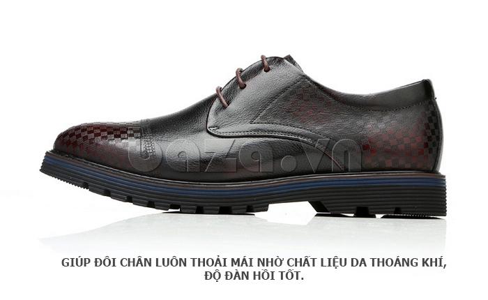 Giày da nam Olunpo QMD1401 giúp chân thoáng khí dễ chịu