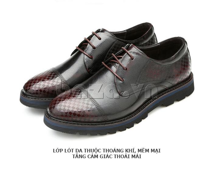 Giày da nam Olunpo QMD1401 da bò cao cấp dễ lau chùi