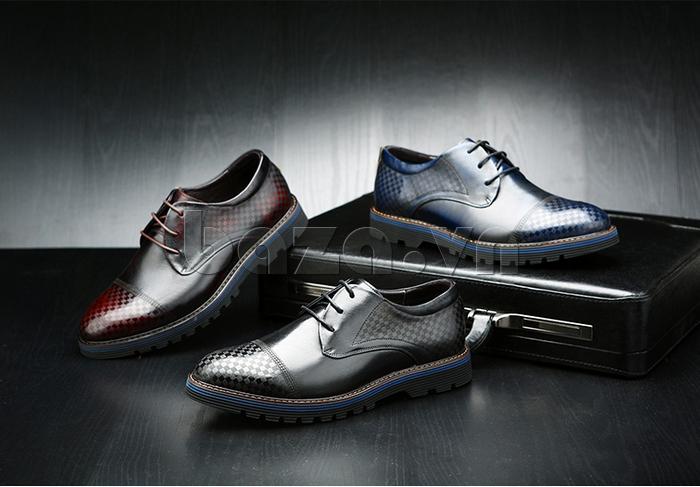 Giày da nam Olunpo QMD1401 có sự phối màu độc đáo
