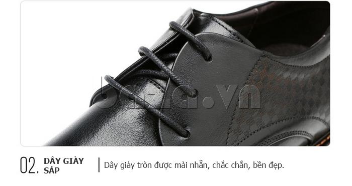 Giày da nam Olunpo QMD1401 dây giày tròn