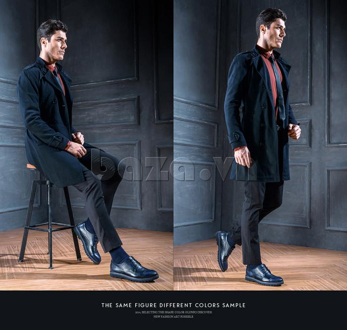 Giày da nam Olunpo QMD1401 thể hiện phong thái doanh nhân