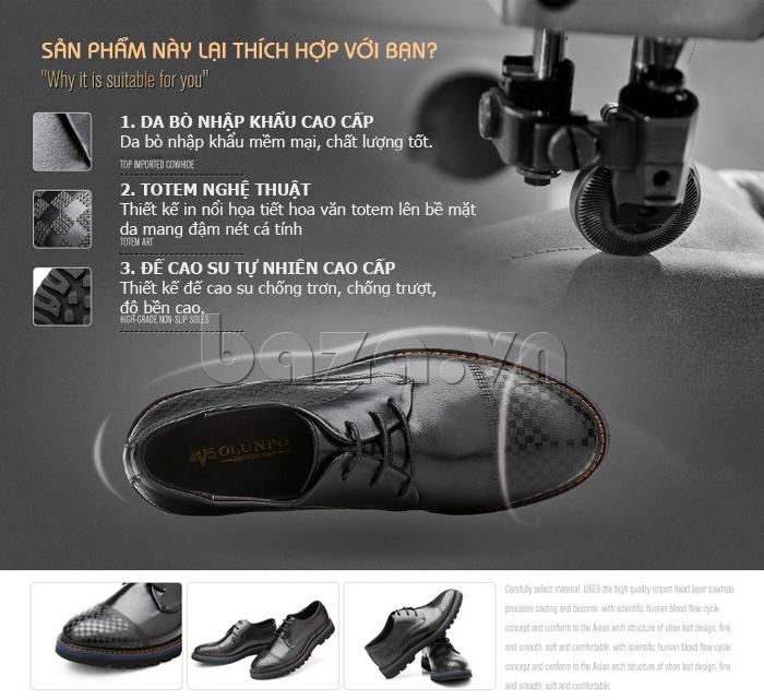 ưu điểm của Giày da nam Olunpo QMD1401