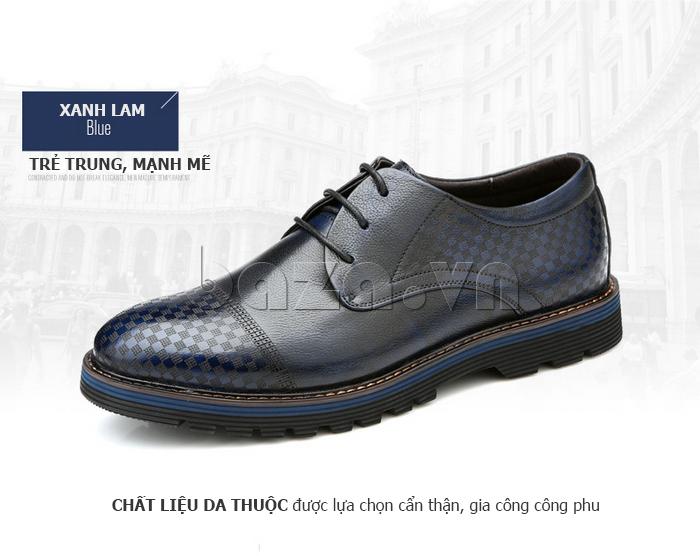 Giày da nam Olunpo QMD1401 trẻ trung và mạnh mẽ