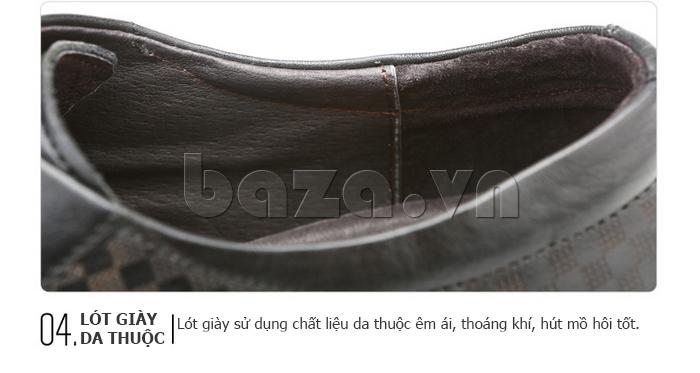 Giày da nam Olunpo QMD1401 thiết kế lót giày cao cấp