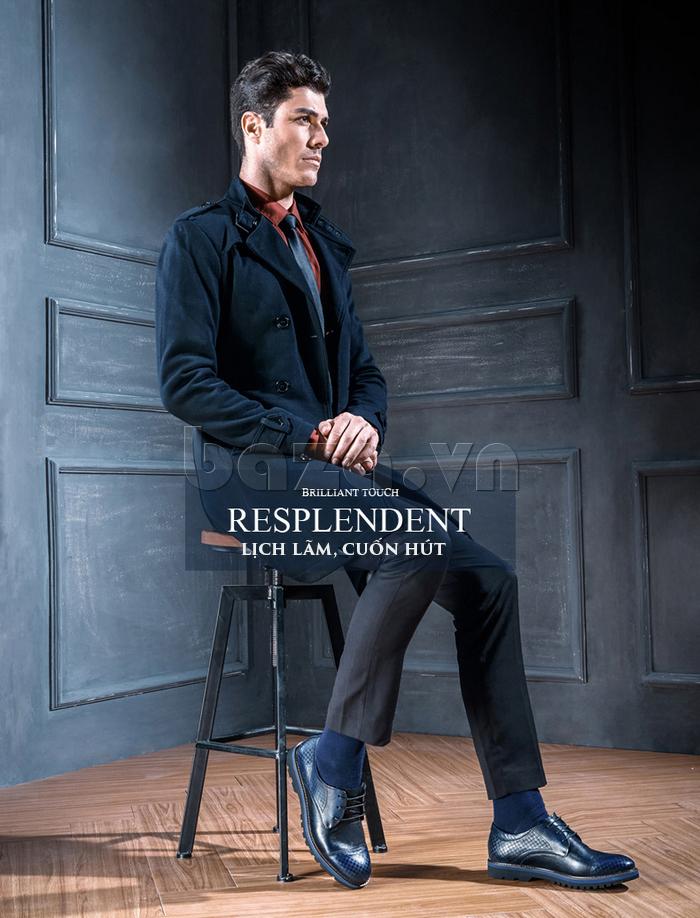 Giày da nam Olunpo QMD1401 giúp nam giới lịch lãm và cuốn hút