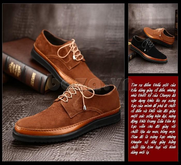 Đôi giày da nam với thiết kế thổi làn gió mới vào phong cách cổ điển