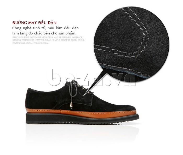 Từng đường may đều đặn trên đôi giày tăng độ bền cho sản phẩm
