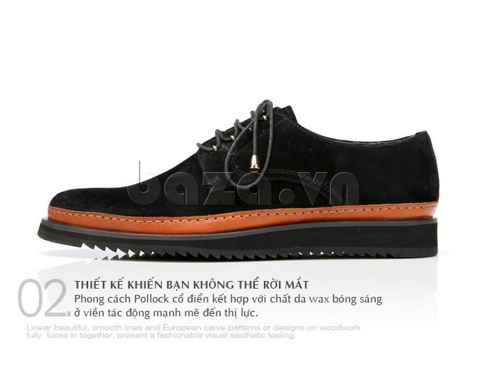 Thiết kế giày nam phong cách Pollock cổ điển khiến bạn không thể rời mắt