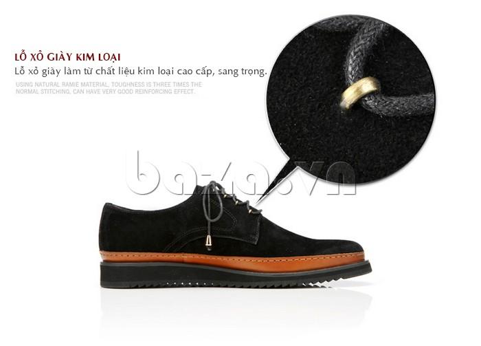 Lỗ xỏ giày làm từ chất liệu kim loại cao cấp, sang trọng