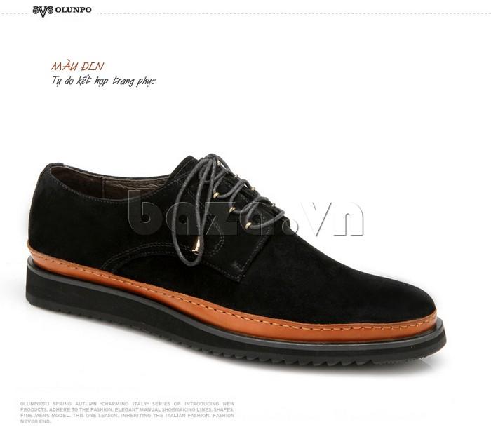 Giày da nam màu đen phù hợp với mọi trang phục