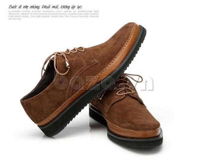 Thiết kế giày cho mỗi bước đi đều nhẹ nhàng, thoải mái và không áp lực