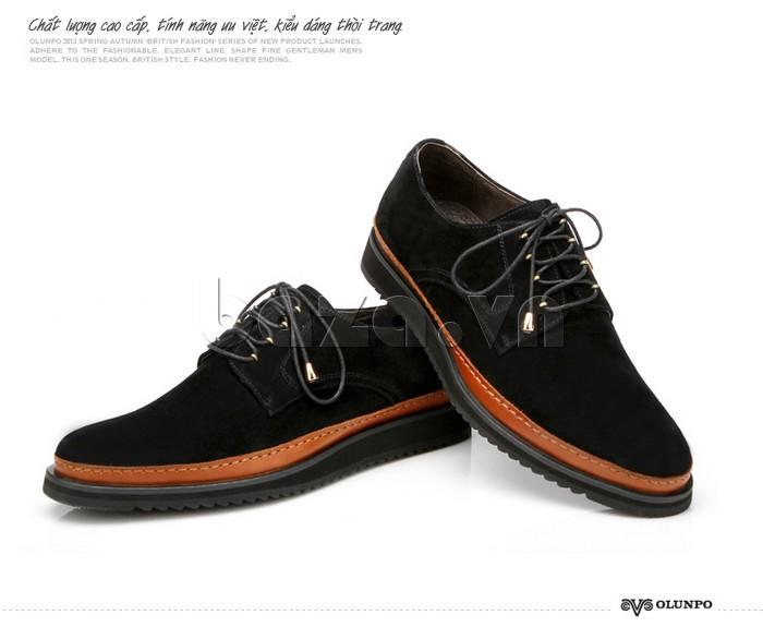 Giày da nam kiểu dáng buộc dây từ Olunpo