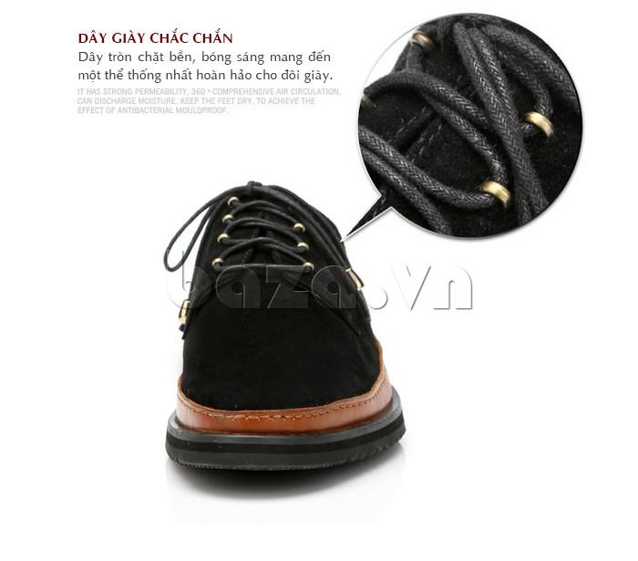 Dây giày tròn chắc bền, bóng sáng mang đến một thể thống nhất hoàn hảo