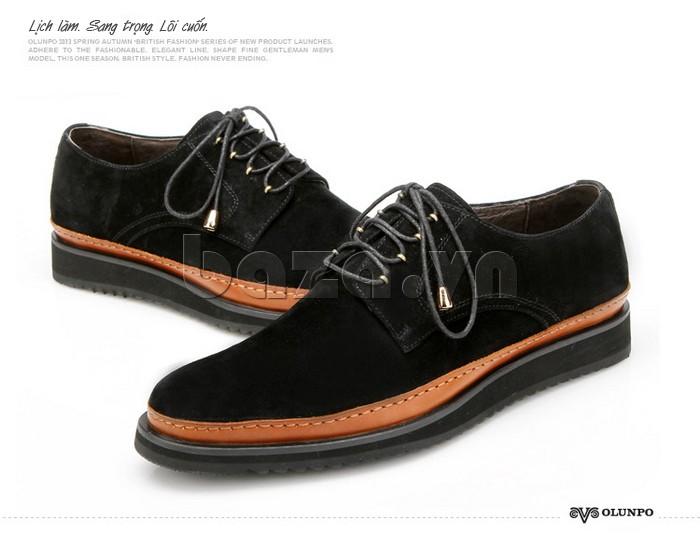 Vẻ đẹp hoàn hảo từ đôi giày da lộn nam Olunpo