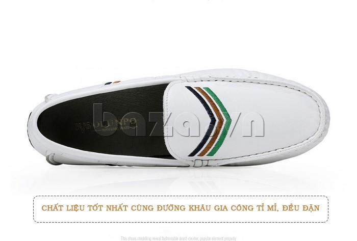 Giày nam Olunpo sử dụng kỹ thuật khâu tinh tế và tỉ mỉ