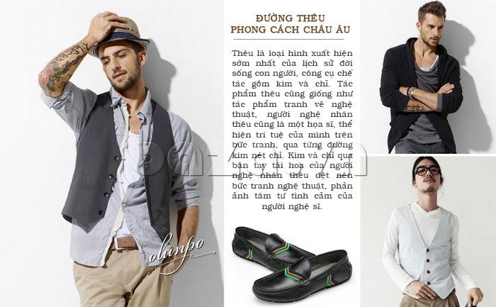 Giày nam Olunpo mang đậm vẻ đẹp hiện đại của nam giới phương Tây