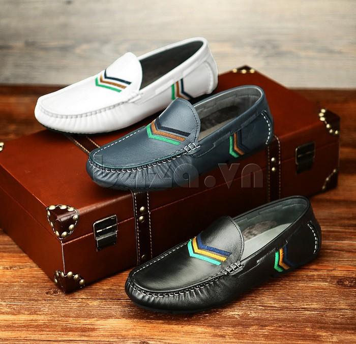 Giày nam Olunpo cá tính với hai màu đơn giản mà trẻ trung