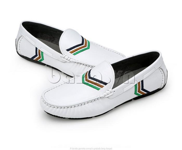 giày nam Olunpo CJY1402 màu trắng trẻ trung