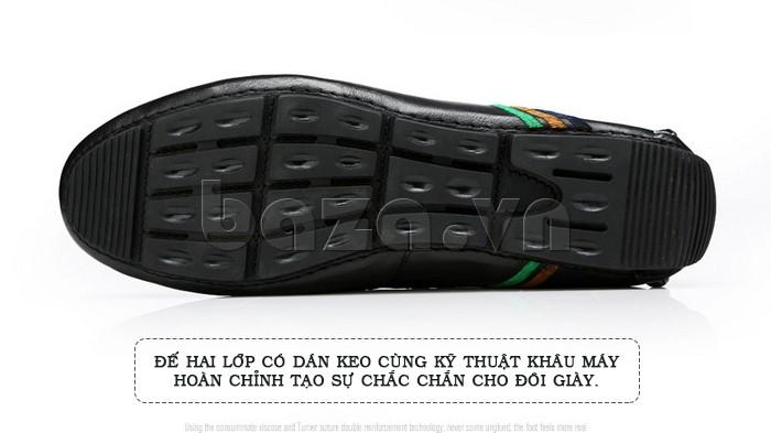 Giày nam Olunpo đế cao su hạt đậu giúp tăng độ ma sát, bám trơn, chống trượt