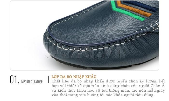 giày nam Olunpo CJY1402 được làm từ chất liệu da bò nhập khẩu
