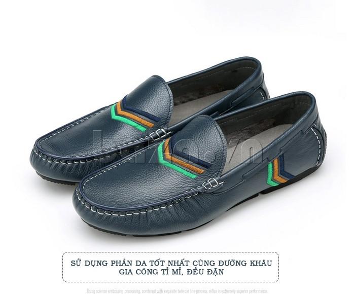 Phần da của Giày nam Olunpo là da tốt, giúp người dùng không bị bít kín, ra mồ hôi và khó chịu