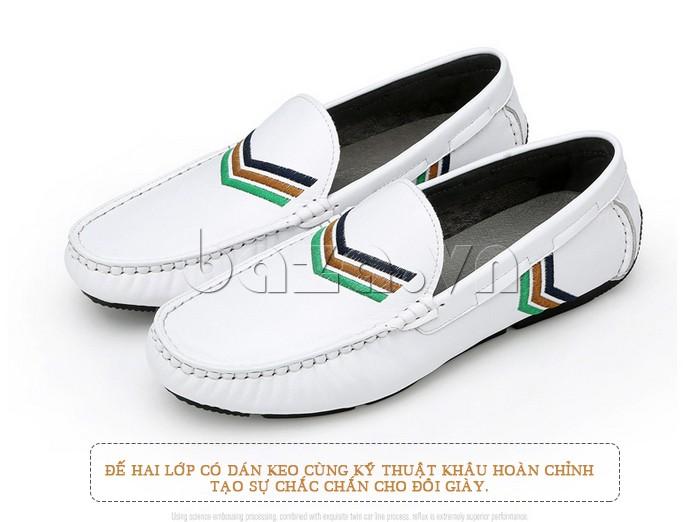 đế hai lớp dán keo tạo sự chắn chắn cho giày nam Olunpo CJY1402