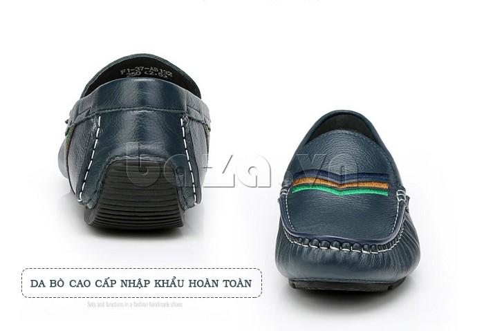 Giày nam Olunpo làm từ da bò nhập khẩu hoàn toàn nên chất lượng vô cùng tốt