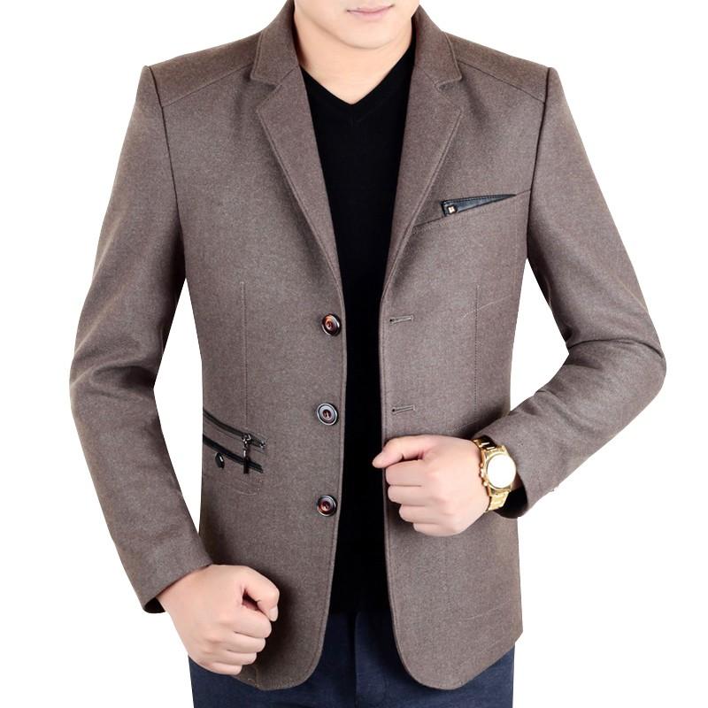 Áo Blazer dạ nam viền túi phối khóa KSLPT