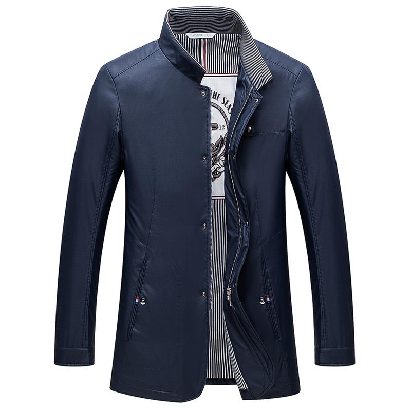 Áo Trench coat cổ đứng khóa kéo