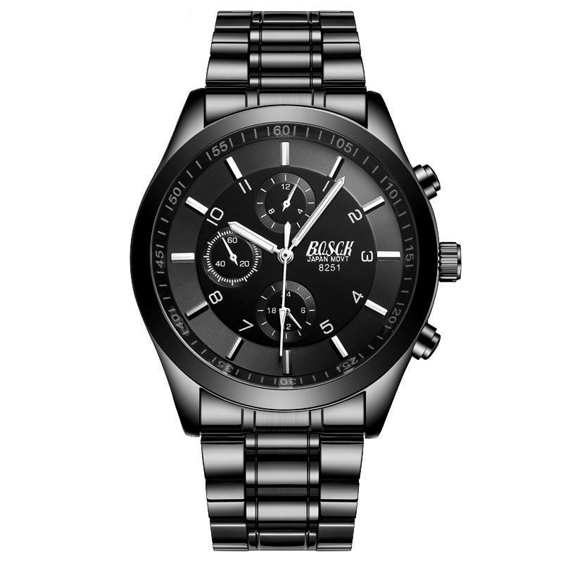 Đồng hồ thời trang siêu mỏng 3 mặt phụ