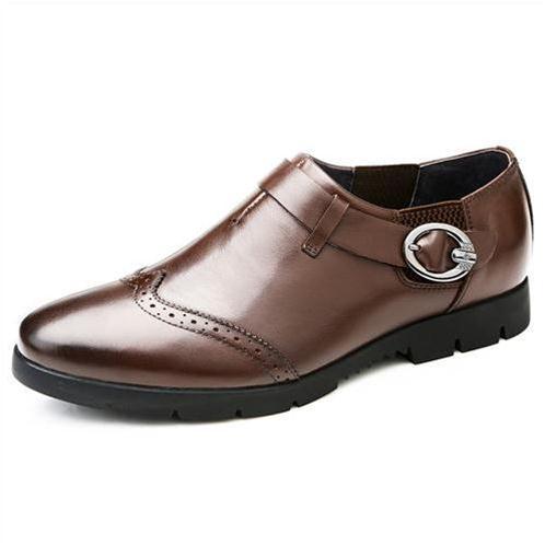 Giày da nam Olunpo QXD1403 màu nâu