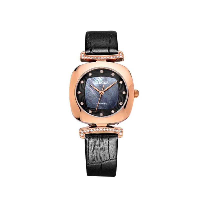 Đồng hồ nữ nạm đá ánh ốc Binger