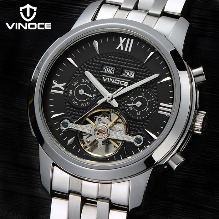 Đồng hồ cơ nam Vinoce 633227 số La mã