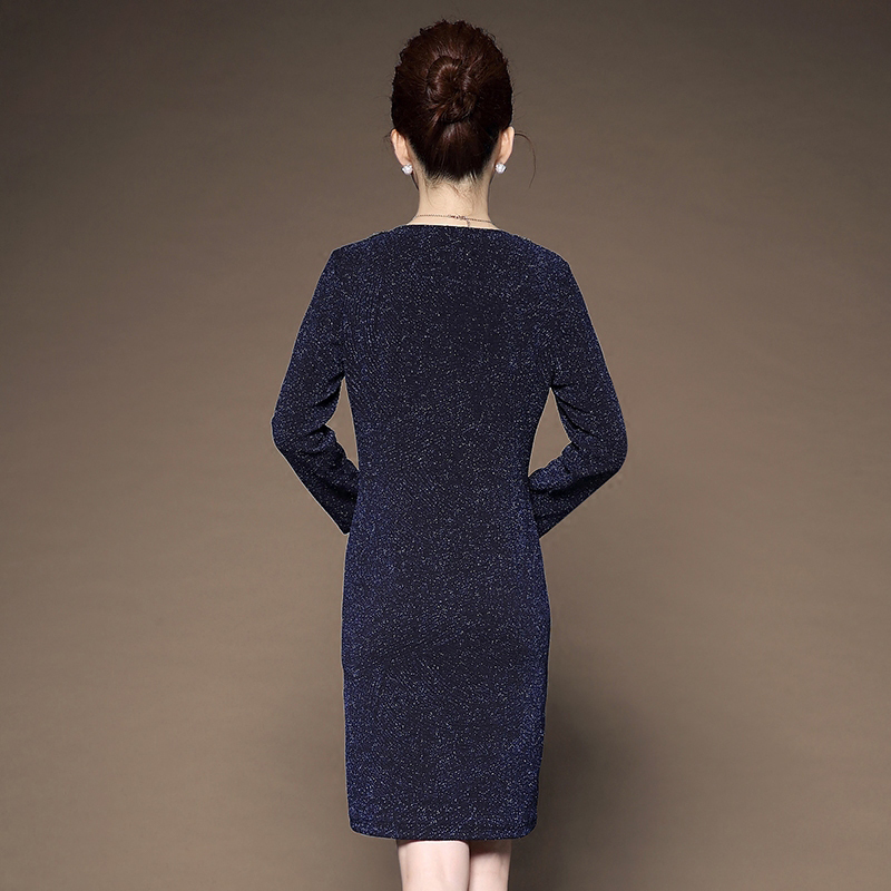Váy sequin dáng suông cổ viền chữ V LouisRun