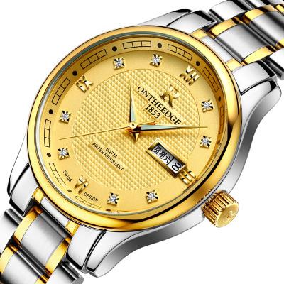 Đồng hồ Ontheedge classic, vạch chỉ giờ đính đá