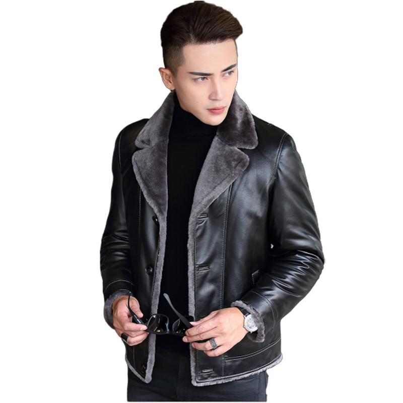 Áo khoác da cừu lót lông cừu SinBos thiết kế mới