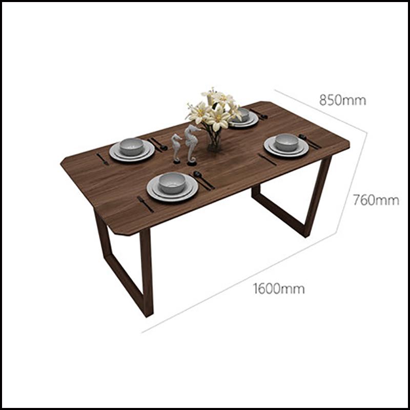 Bộ bàn ăn gỗ thịt hiện đại kiểu dáng Bắc Âu