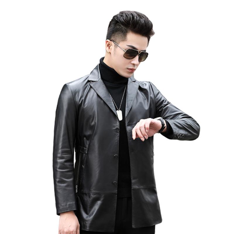 Áo Blazer da bò 3 khuy Slim body thiết kế mới lịch lãm