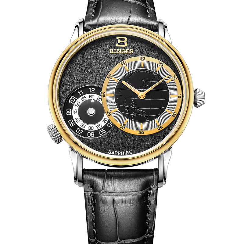 Đồng hồ nam Binger 2 mặt số