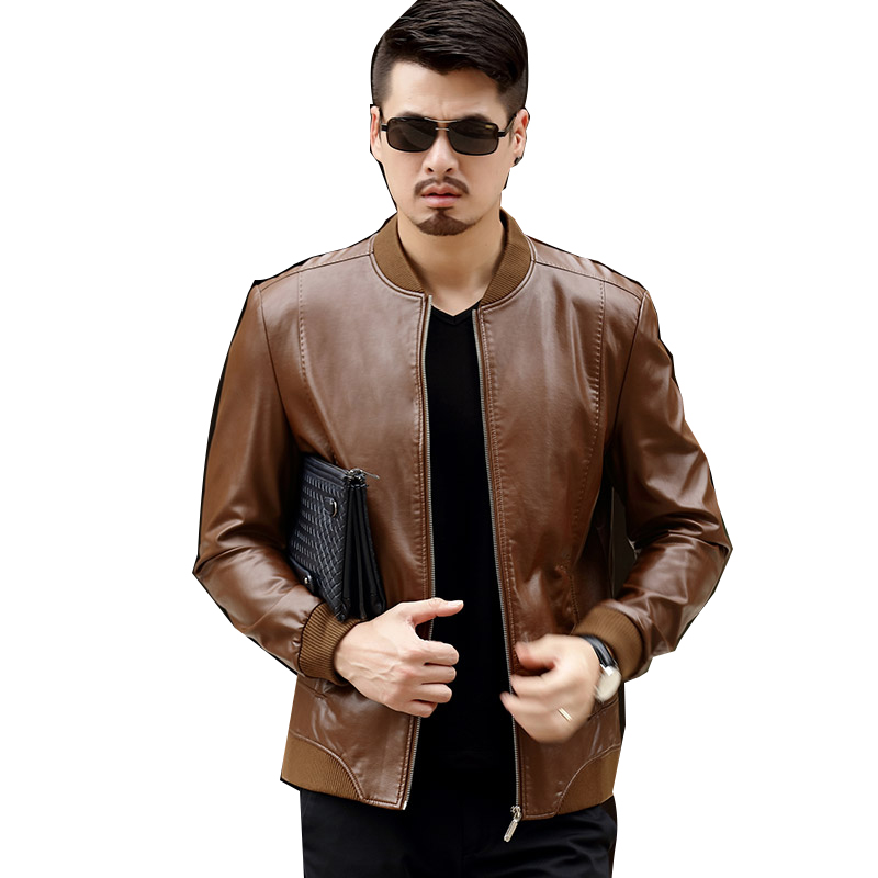 Áo Jacket da nam cổ trụ trơn KSLPT