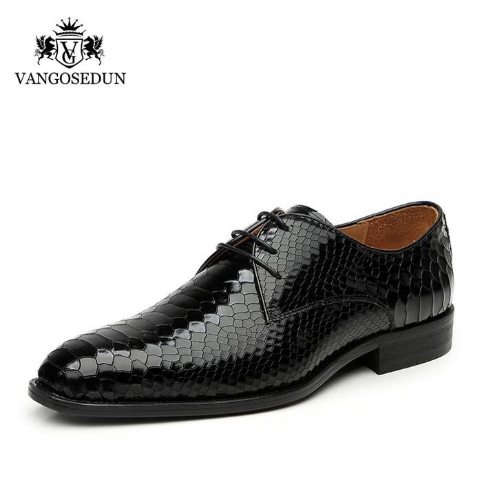 Giày da nam VANGOSEDUN Y1012 họa tiết da rắn sang trọng