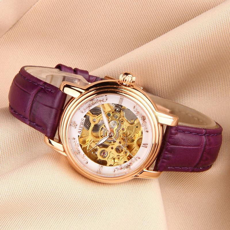 Đồng hồ cơ tự động nữ Aiers B202L